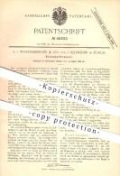Original Patent - A. Von Wurstemberger & Co., J. Schweizer , Zürich , 1888, Öldampfbrenner , Brenner , Licht , Petroleum - Documents Historiques