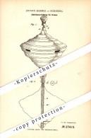 Original Patent - Johannes Bammes In Nürnberg , 1883 , Antrieb Für Kreisel , Brummkreisel !!! - Antikspielzeug
