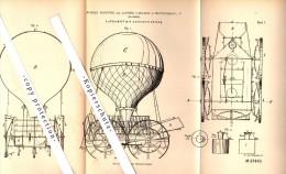 Original Patent - R. Hascher Und L. Laetsch In Netzschkau I.V. , 1883 , Luftschiff Mit Lenkung , Ballon , Flugapparat !! - Fliegerei