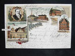 KRAPPITZ Krapkowice Oppeln O.S. - Litho - Z. B. Bahnhof - Restaur. HYTTRECK 1900 - Neumark