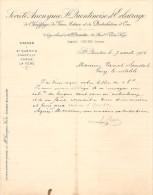 Vieux Papier - Aisne - 02 - Saint-Quentin - Société Anonyme D'éclairage - Usine - Georges Frère - Avril 1902 - France