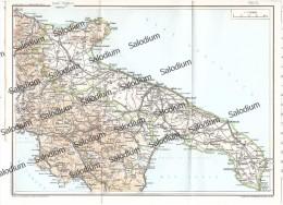 PUBLIA CALABRIA - Vecchia Mappa Cartina Originale D´epoca - Mappe