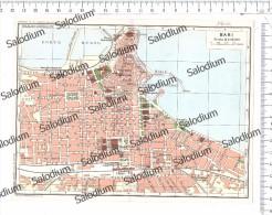 BARI - Vecchia Mappa Cartina Originale D´epoca - Mappe