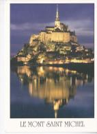 MONT-SAINT-MICHEL (50-Manche),de Nuit. Photo Escat, Ed. Le Goubey 2000 - Le Mont Saint Michel