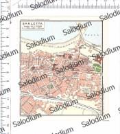BARLETTA - Vecchia Mappa Cartina Originale D´epoca - Mappe