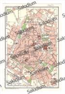 LECCE - Vecchia Mappa Cartina Originale D´epoca - Mappe