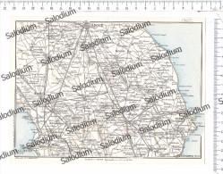PUBLIA GALLIPOLI LECCE VERNOLE NARDO GALATONE GALATINA MARTANO POGGIARDO - Vecchia Mappa Cartina Originale D´epoca - Mappe
