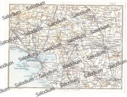TARANTO MASSAFRA GROTTAGLIE FRANCAVILLA FONTANA ORIA SAVA MANDURIA CEGLIE  - Vecchia Mappa Cartina Originale D´epoca - Mappe