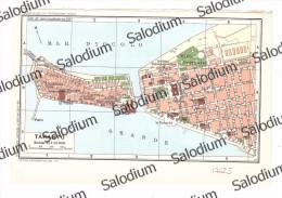 TARANTO - Vecchia Mappa Cartina Originale D´epoca - Mappe