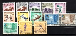 1958-1964   Afghanistan Entre 341 Et 746*, Cote 136 €  Belle Qualité - Afghanistan