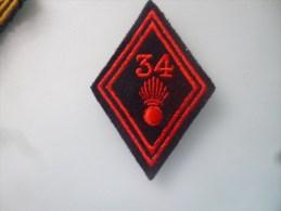 Losange Modèle 45 34 Régiment D Infanterie Troupe - Ecussons Tissu