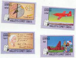 DOMINICA  945-8  MINT NEVER HINGED SET OF STAMPS OF SPACE  ( HALLEY'S COMET - Zonder Classificatie