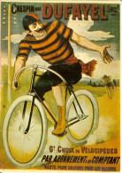 CP Couleur Vieille Pub En Français Crespin Dufayel Vélocipèdes Vélo Cycliste Sport Cyclisme - Ciclismo