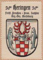 Werbemarke (Reklamemarke, Siegelmarke) Kaffee Hag : Wappen Von Heringen - Tea & Coffee Manufacturers