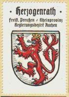 Werbemarke (Reklamemarke, Siegelmarke) Kaffee Hag : Wappen Von Herzogenrath - Tea & Coffee Manufacturers