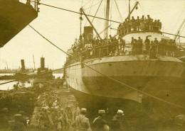 Grece Salonique Port Débarquement Troupes WWI Ancienne Photo SPA 1918 - Krieg, Militär
