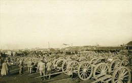 Grece Salonique Artillerie Lourde Troupes WWI Ancienne Photo SPA 1918 - War, Military
