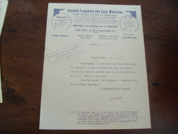 Facture  Societe Francaise Eaux Minerales Perles De Vals - 1900 – 1949