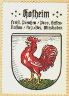 Werbemarke (Reklamemarke, Siegelmarke) Kaffee Hag : Wappen Von Hofheim - Tea & Coffee Manufacturers