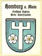 Werbemarke (Reklamemarke, Siegelmarke) Kaffee Hag : Wappen Von Homburg Am Main - Tea & Coffee Manufacturers