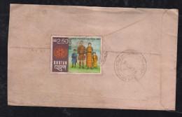 Bhutan 1978 Cover Overprint Stamp Local Use - Bhutan