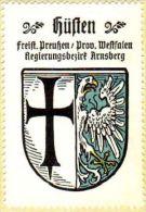 Werbemarke (Reklamemarke, Siegelmarke) Kaffee Hag : Wappen Von Hüsten - Tea & Coffee Manufacturers