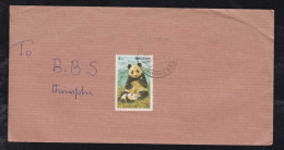 Bhutan 1997 Cover Panda Bear Stamp Local Use - Bhutan