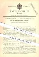 Original Patent - Zacharie Pantillon In La Chaux De Fonds , Schweiz , 1891 , Verstellbare Fräsmaschine , Fräsen , Metall - Documents Historiques