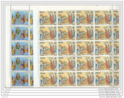 1983 Vaticano Vatican COMUNICAZIONI COMMUNICATIONS 25 Serie Aeree Di 2v. In Foglio MNH** Air Mail Sheet - Posta Aerea