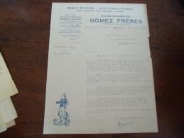 Facture  Montreuil Sous Bois Gomez Biscuits Gaufrette Biscuit La Basquaise - 1900 – 1949