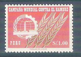 MNH Stamp FAO Freedom From Hunger 1963 Peru Campagne Mondiale Contre La Faim - Organisations