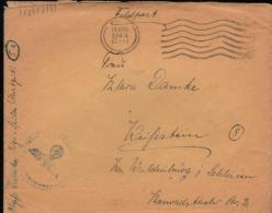 18 APR 10 11 1944 FELDPOST COVER RIGA MASCHINENENHALBSTEMPEL 68 WITH FLIEGERHORSTKOMMANDANTUR RIGA-SPILVE FELPOST MARKIN - Allemagne