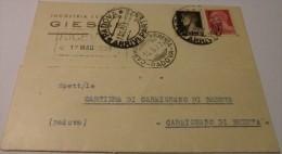 Cartolina Pubblicitaria Fabbrica Legnami Giesse, Padova, Viaggiata 11.05.1937 - Padova (Padua)