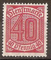 Deutsches Reich 1920 # Dienst - Michel 28 ** - Dienstpost