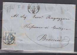 15 Cent. Litogratico 2° Tipo Su Piego - 1861-78 Vittorio Emanuele II