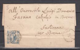 15 Cent. Litogratico 2° Tipo Su Piego (ann. Breme Al Verso) - Marcofilía