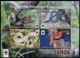SAMOA, 2015, MNH, WWF, SNAKES, BOAS, S/SHEET - Slangen