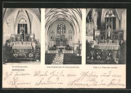 AK Dortmund, St. Antonius-Kirche, Inneres, St. Antonius-Altar, Altar D. Frau Von Lourdes - Dortmund