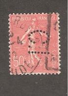 Perforé/perfin/lochung France No 199 C.I Société Toulousaine De Crédit Industriel - Gezähnt (Perforiert/Gezähnt)