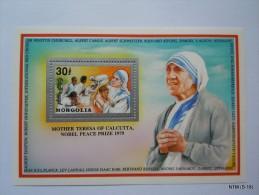 Mongolia Year 1992. Mother Teresa Of Calcutta, Nobel Peace Prize 1979. MNH ** SG: MS 2367. MI: BL 194A - Mongolia