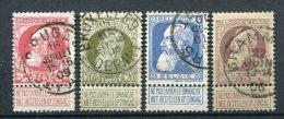 Belgien Nr.71/4         O Used       (309) - 1905 Breiter Bart
