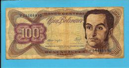 VENEZUELA - 100 BOLÍVARES - 03 / 02 / 1987 - Pick 66a - SIMON BOLIVAR - 2 Scans - Venezuela