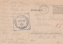 Feldpost WW2: Kommando 7. San.Stammabteilung P/m Stralsund 3.5.1941 - Plain Postcard (G59-53A) - Militaria