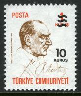TURKEY 1977 (**) - Mi. 2426, ATATÜRK, Regular Issue Stamp (overprinted) - 1921-... République