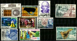 Espagne  10 Timbres Oblitérés - 1931-Today: 2nd Rep - ... Juan Carlos I