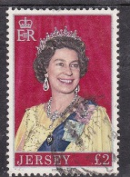 K] Timbre Oblitéré Cancelled Stamp Jersey Reine Queen Elisabeth II - Jersey