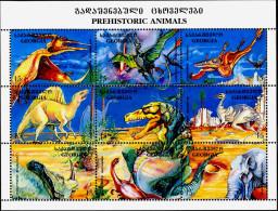 PRE HISTORIC ANIMALS-DINOSAURS-GEORGIA-MS-SCARCE-MNH-MS-634-5 - Briefmarken