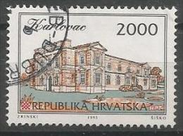 HR 1993-238 DEFINITIVE STADT KARLOVAC, CROATIA HRVATSKA, 1v, Oo - Architecture