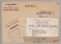 Ozeanien Tonga 1973-04-03 Nuku'Alofa R-Brief Nach Essex England Beschädigt Postverschluss - Tonga (1970-...)