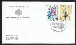 Monaco 1981, FDC Int. Wettbew. F. Blumenbinderei / Monaco 1981, FDC Int. Competition For Flower Arrangement - Monaco